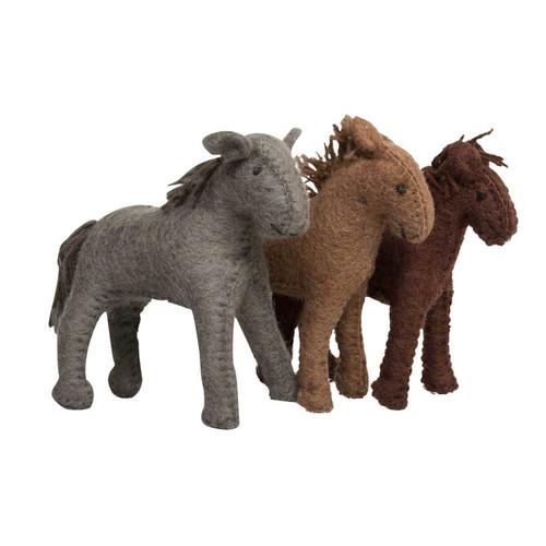 Papoose  Village Horses 3 Piece Set