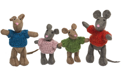 Papoose Toys Ð Dolls Ð Mouse Family Ð 4 Pieces