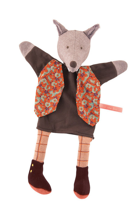 Moulin Roty The Gentleman Mr. Wolf hand puppet