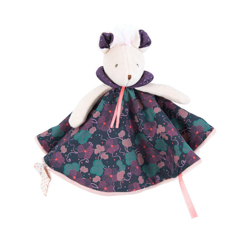 Moulin Roty Il ƒtait Une Fois Purple Flowers Mouse Lovey
