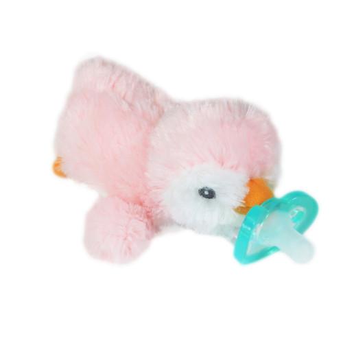 Razbaby RaZbuddy Paci Holder - JollyPop Pacifier - Pink Penguin