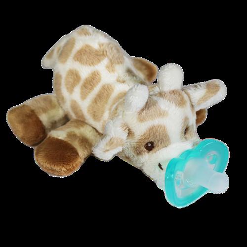 Razbaby RaZbuddy Paci Holder - JollyPop Pacifier -Giraffe