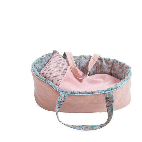 Moulin Roty 'Famille Mirabelle' Large Mauve Moses Bed