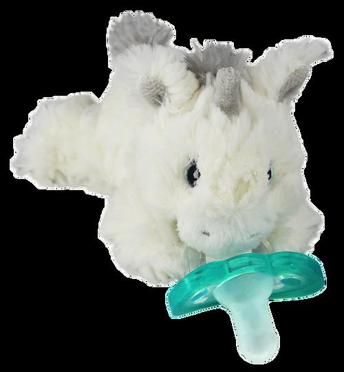 Razbaby RaZbuddy Paci Holder - JollyPop Pacifier - Luna Unicorn