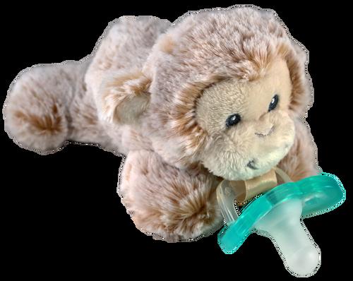 Razbaby RaZbuddy Paci Holder - JollyPop Pacifier - Marlow Monkey