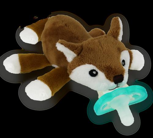 Razbaby RaZbuddy Paci Holder - JollyPop Pacifier - Pepper Fox