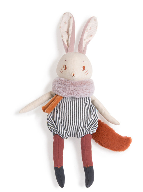 "Moulin Roty Soft toy Plume large rabbit"" Apres la pluie"" 16.5 inch"