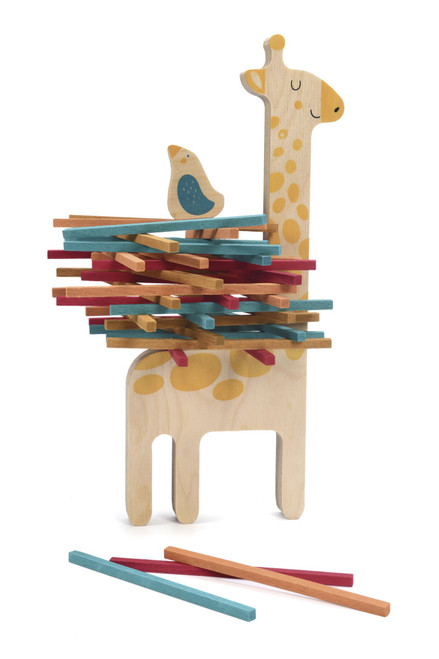 LONDJI Wooden Toys - Matilda & Her Little Friend Stacking Game - (42 pcs)