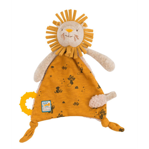 Moulin Roty Sous Mon Baobab - Lion Lovey with Pacifier Holder