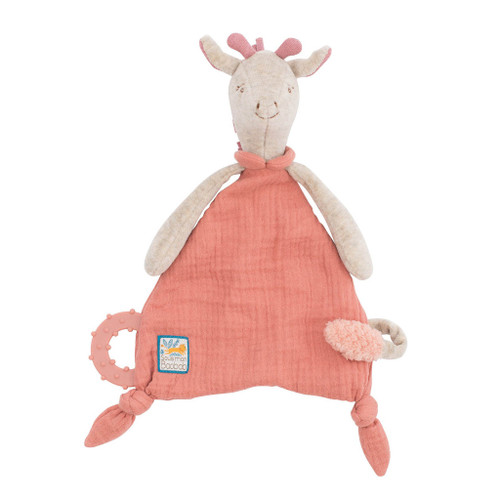 Moulin Roty Sous Mon Baobab - Giraffe Lovey with Pacifier Holder