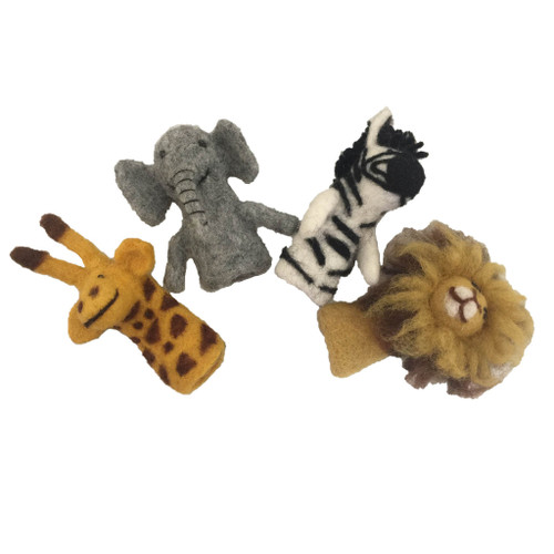 Papoose Finger Puppets - African Animals