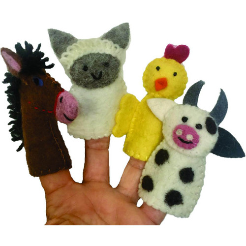 Papoose FInger Puppets - Farm Animals