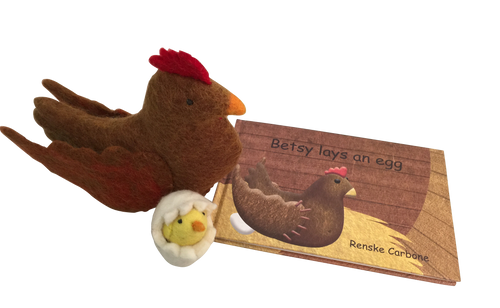 "Papoose""Betsy Lays an Egg"" Book and Toy"