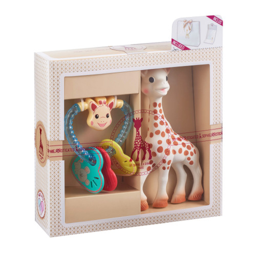 Sophie the Giraffe Sophiesticated Birth Set  with a Rattle + a bag + a gift card