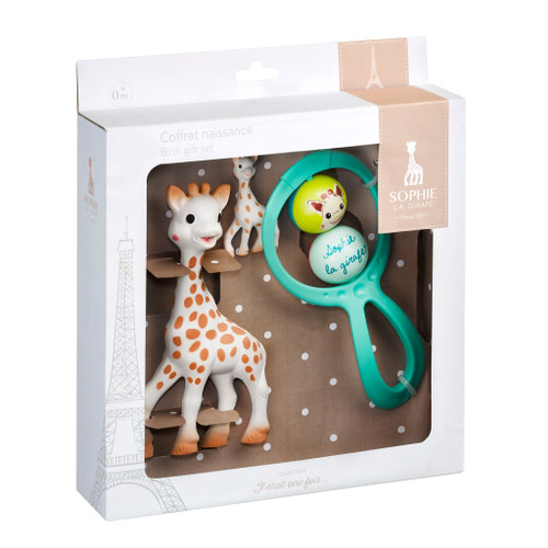 Sophie the Giraffe Birth Set Sophie and 2 ball rattle