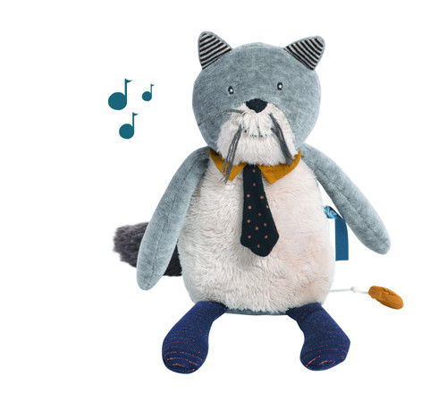 Moulin Roty Les Moustaches Musical Cat