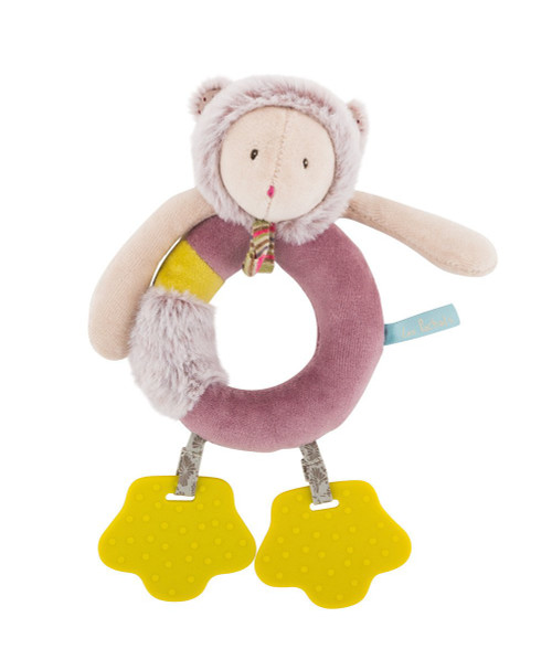 Moulin Roty Mouse Ring Rattle with Teethers