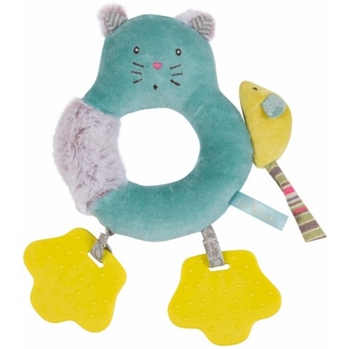 Moulin Roty Cat Ring Rattle Les Pachats collection