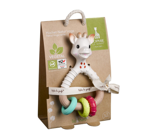 Sophie the Giraffe (Plant based) So'pure Natur'rings NEW