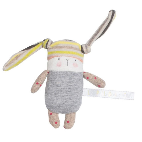 Moulin Roty Nin-Nin Bunny Rattle Les Petit Dodos
