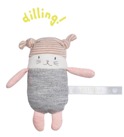 Moulin Roty Les Petits Dodos Rattle Moon the Cat