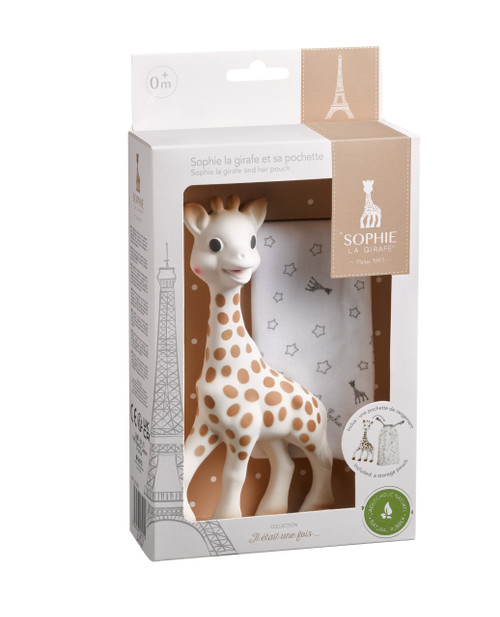 Sophie La Girafe an her Pouch
