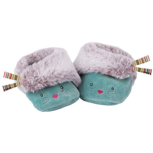 Moulin Roty Les Pachats  Cat Baluw Baby Slippers