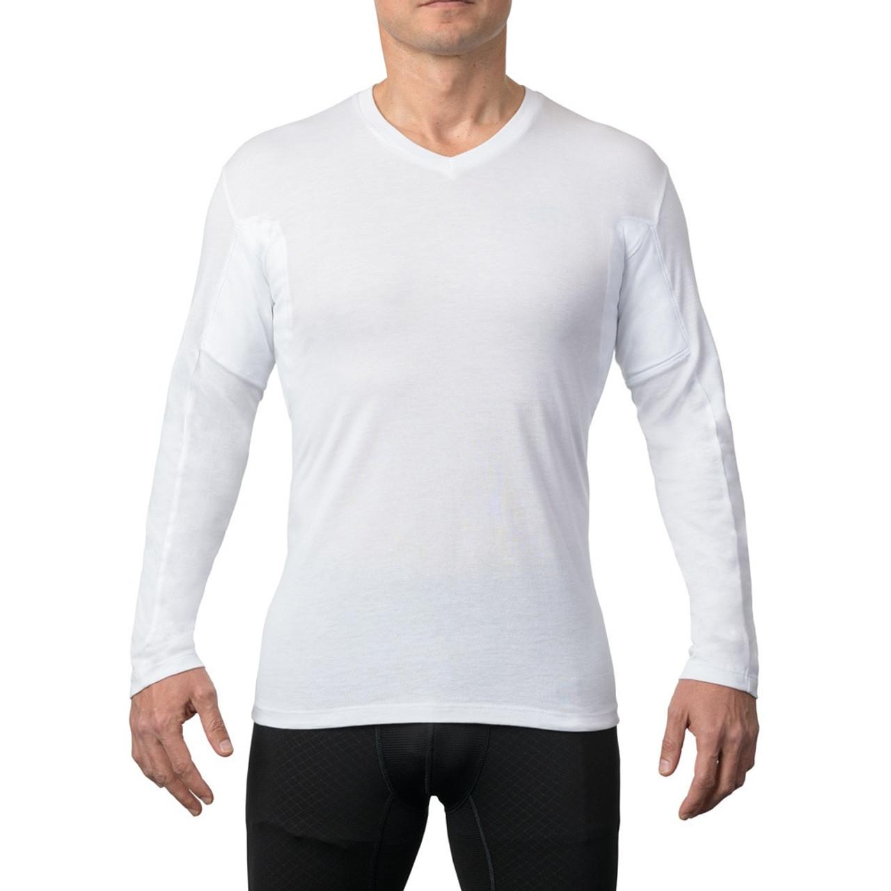 The Thompson Tee Mens Sweat Proof Undershirts for Men with Underarm Sweat Pads Original Fit, V-Neck
