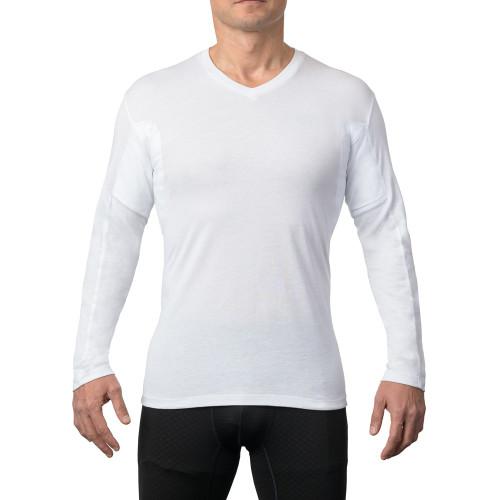 Men's Sweat Proof Long Sleeve V-neck Undershirt - Original Fit