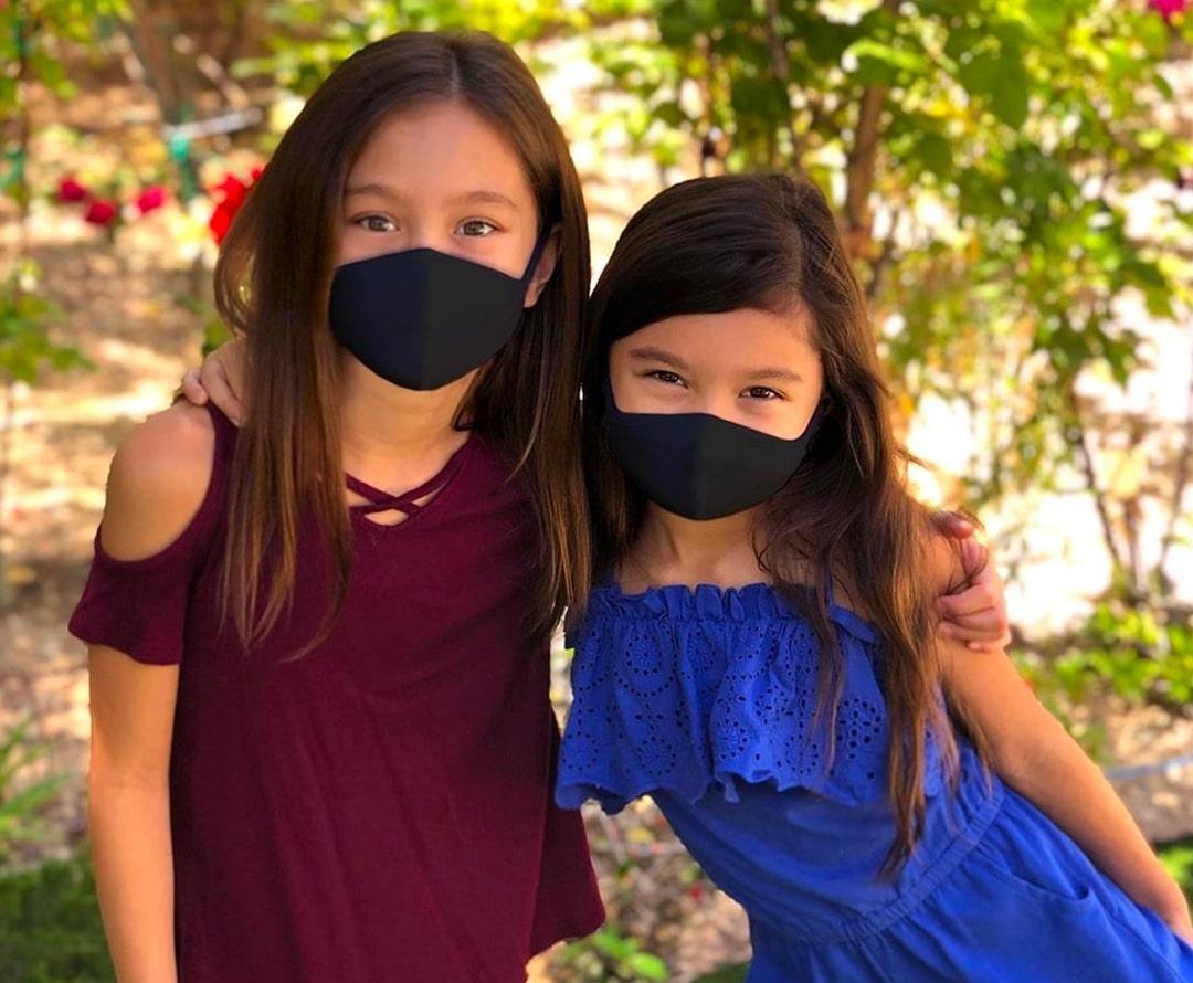 Kids Wearing Cotton Face Masks