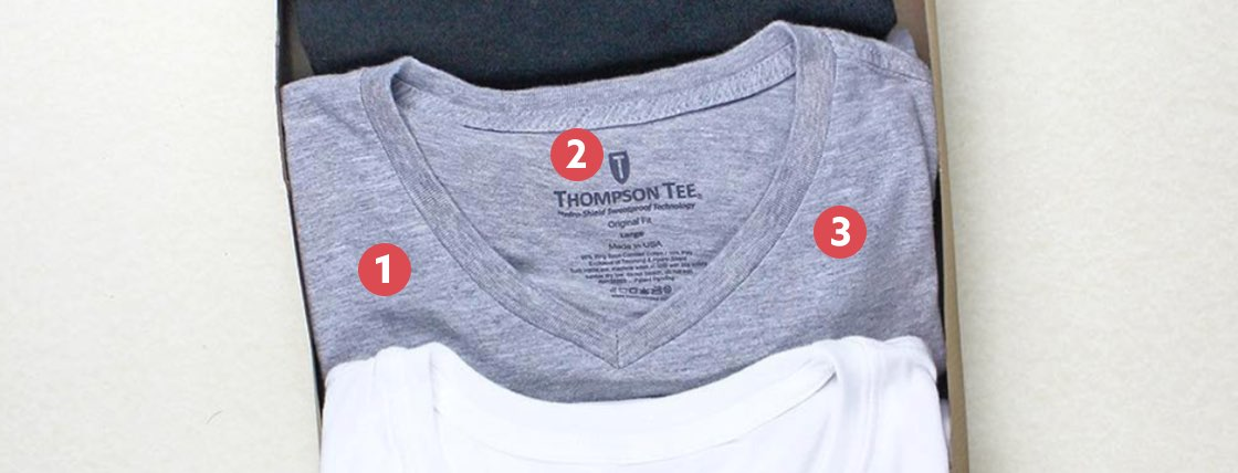 Women's Original Fit Sweat Proof Shirt Features