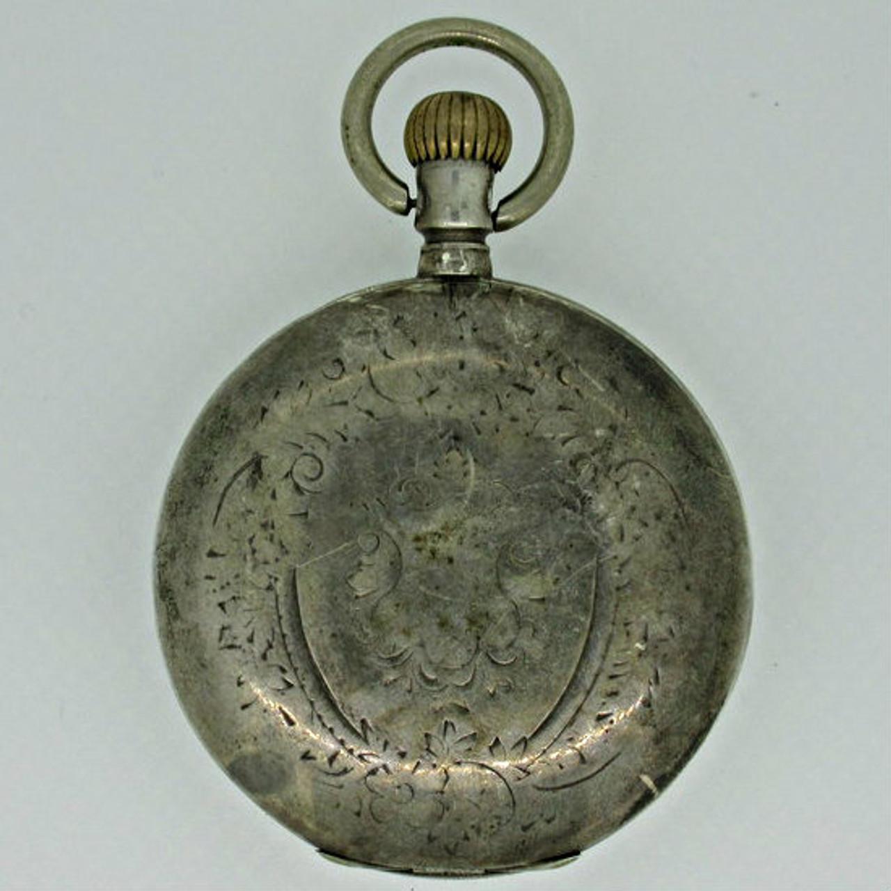 Antique Remontoir Ancre Ligne Droite Swiss 800 Silver Pocket Watch Parts  Steampunk