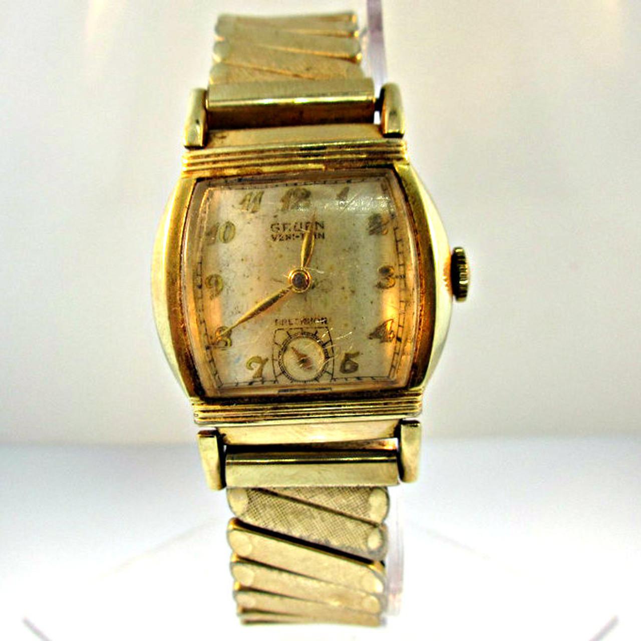 vintage gruen watch co veri thin precision watch 3004619cb