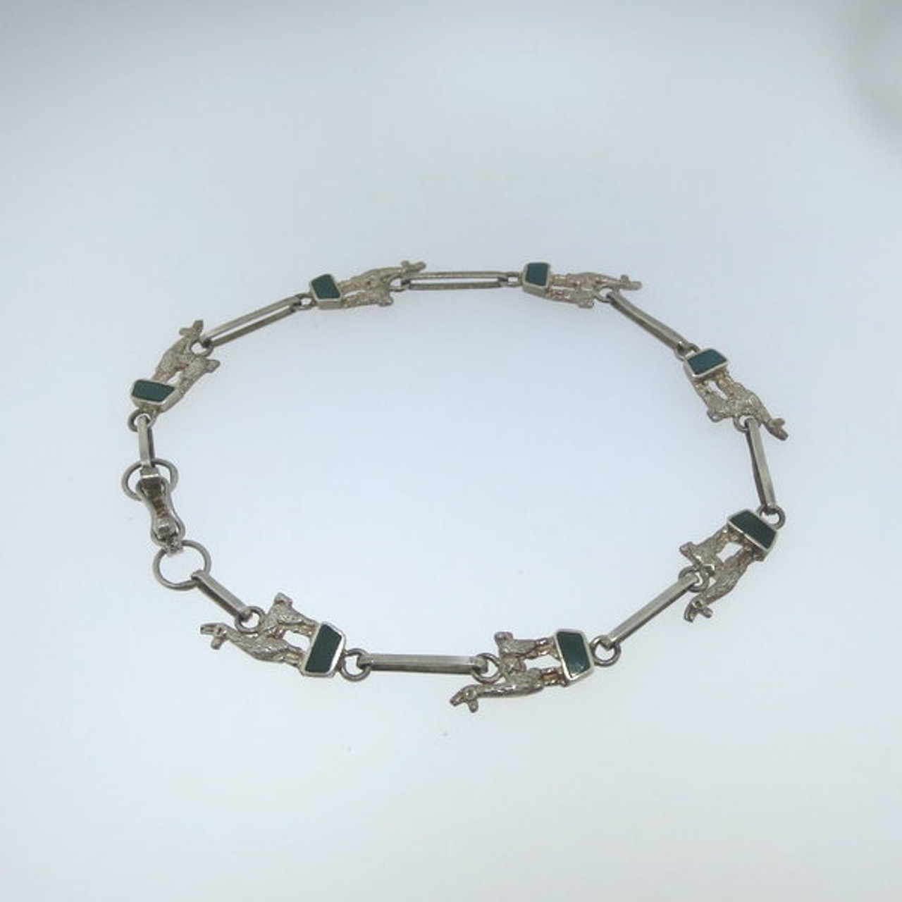 Fashion Jewelry Strict Antique Alpacca Silver Bracelet