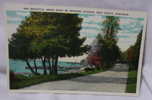 Shore Drive Ephram Door County Wi Antique Postcard - Antiques And Collectibles - Vintage Cards & Postcards - Page 1