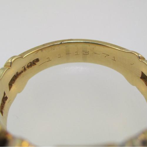 14k Yellow Gold Approx  15ct Round Brilliant Cut Diamond Masonic Ring Size  11 3/4