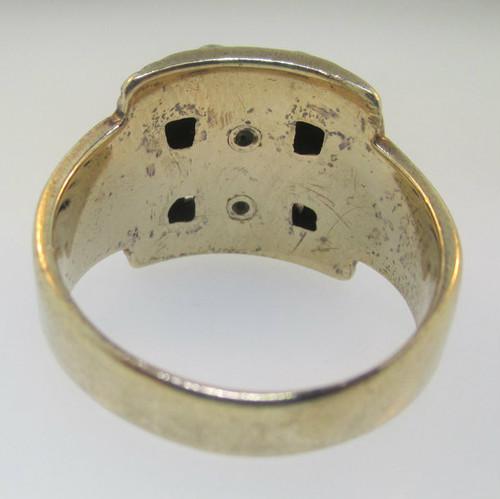 ba62056bca282 10k Gold Scottish Rite Double Headed Eagle Men's Masonic 32nd Degree Ring  Size 9