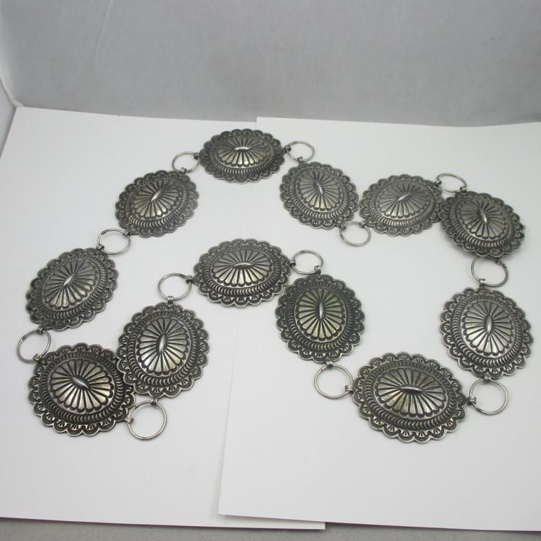 "Sterling Silver Southwest Concho Belt 39.5"""