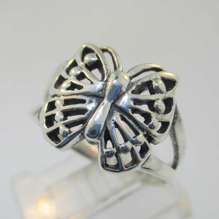 Sterling Silver Butterfly Ring Size 7