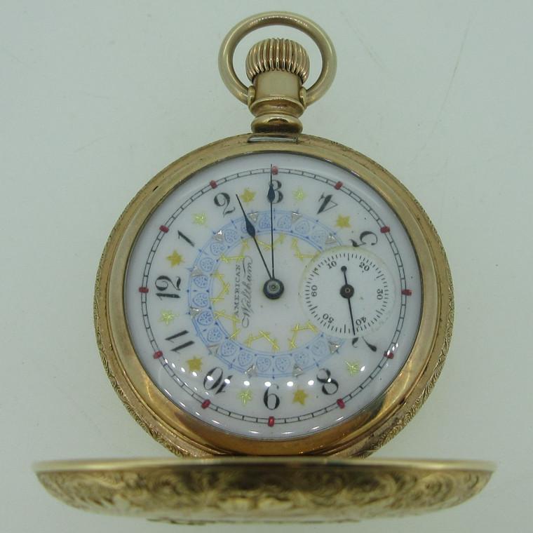 Antique 1892 Waltham Grade W Model 1890 6s 11J Tri-Color Gold Filled Pocket Watch (B14010)