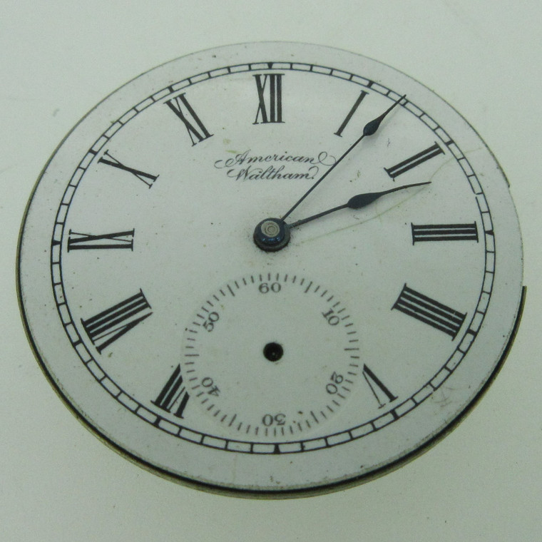 Antique 1896 Waltham G: Seaside M: 1890 6s 7J Hunters Movement and Dial Parts (B14071)