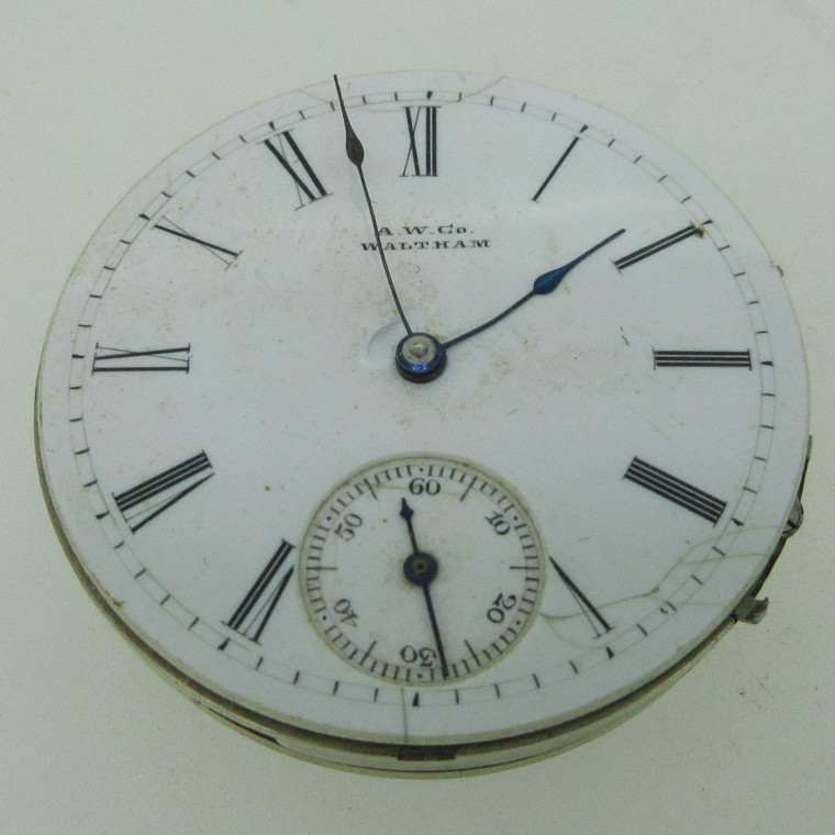Antique 1884 Waltham G: Royal M: 1873 8s 13J Hunters Movement and Dial Parts (B14072)