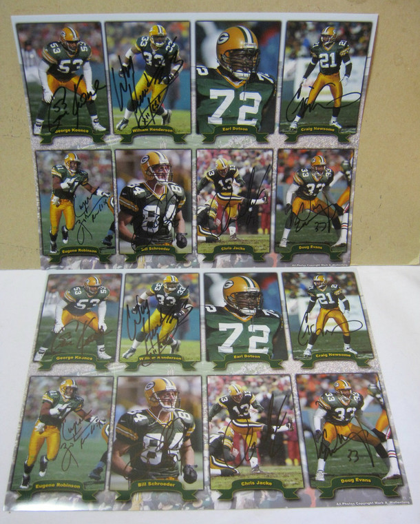 Green Bay Packers Hand Signed Autographs Collection