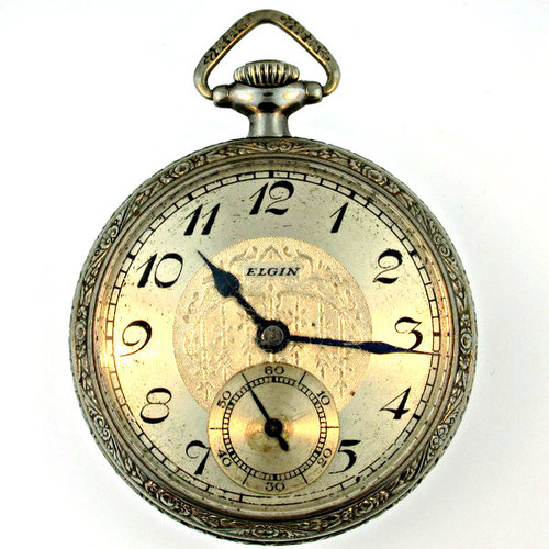 Antique 1935 Elgin National Watch Co Pocket Watch Parts