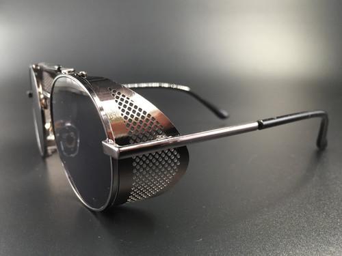Steampunk bril Scherlock - zwart bruin/ zwart