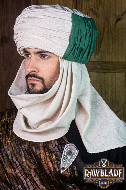 Vaishir turban White and Green by [product_brand] for €96.8 | Shop on Avothea Store
