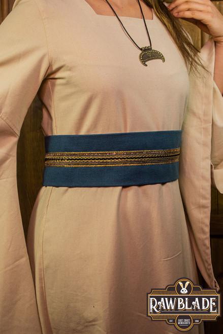 Jeanne fabric belt - Blue