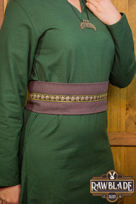Jeanne fabric belt - Brown
