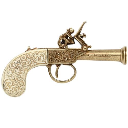 Denix Flintlock Pocket Pistol - Ivory - Finland - 1798