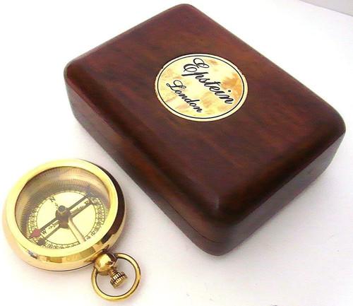 Messing Kompas Met Kist
